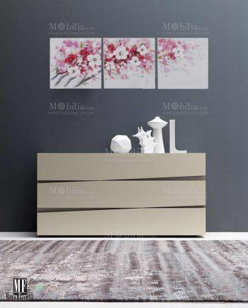 Tela con fiori grigi dipinta a mano mobilia store home for Mobilia store