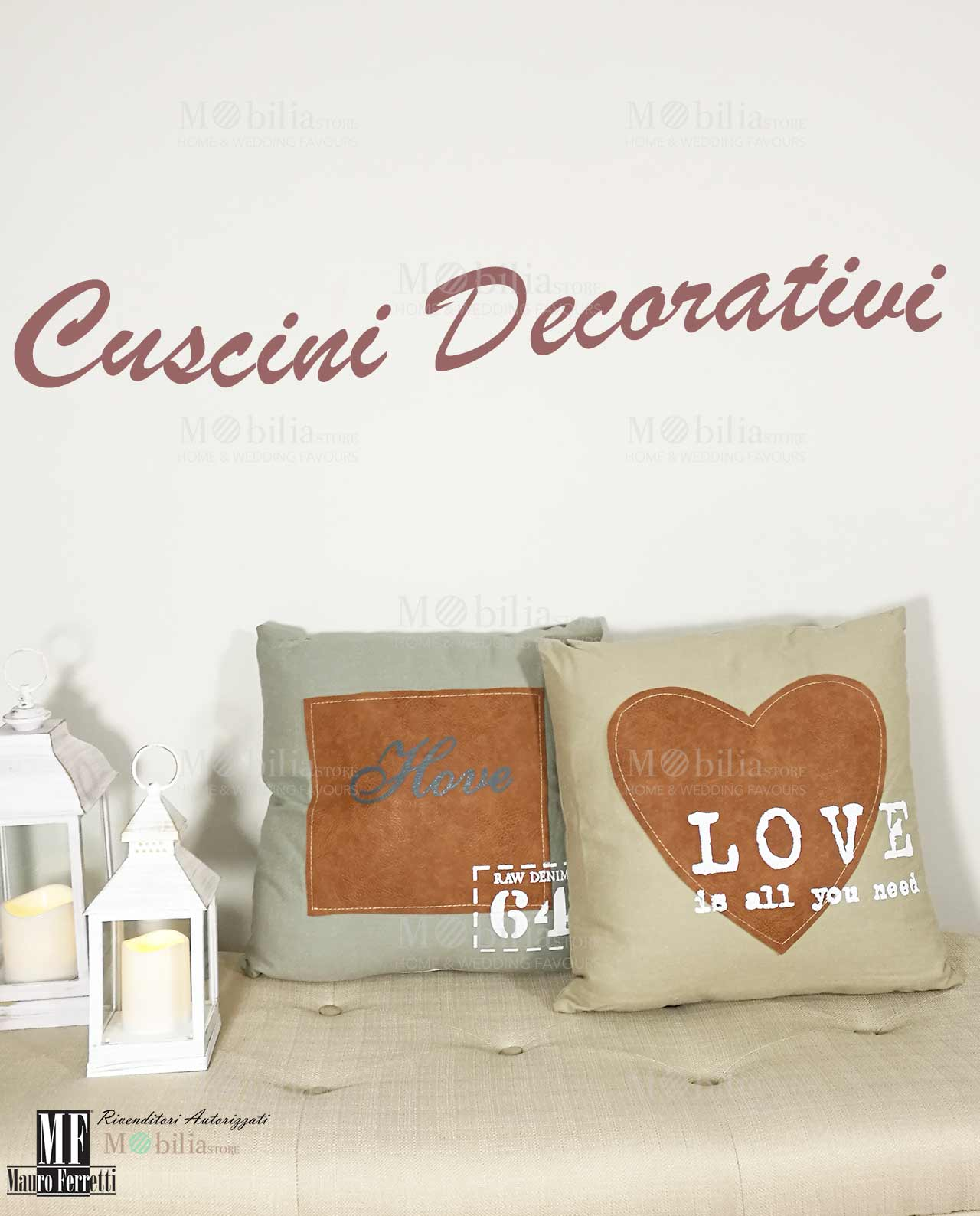 Cuscini decorativi per divani