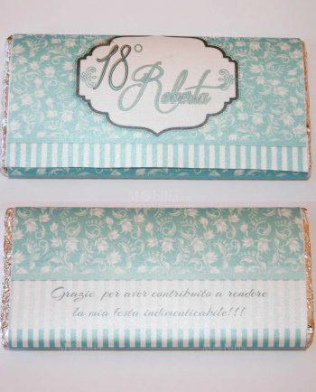 Invito color Tiffany per Tavoletta Di Cioccolato