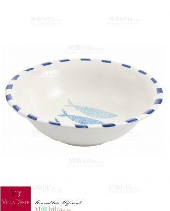 Insalatiera Ceramica Pesci Blu La Isla Villa d'Este