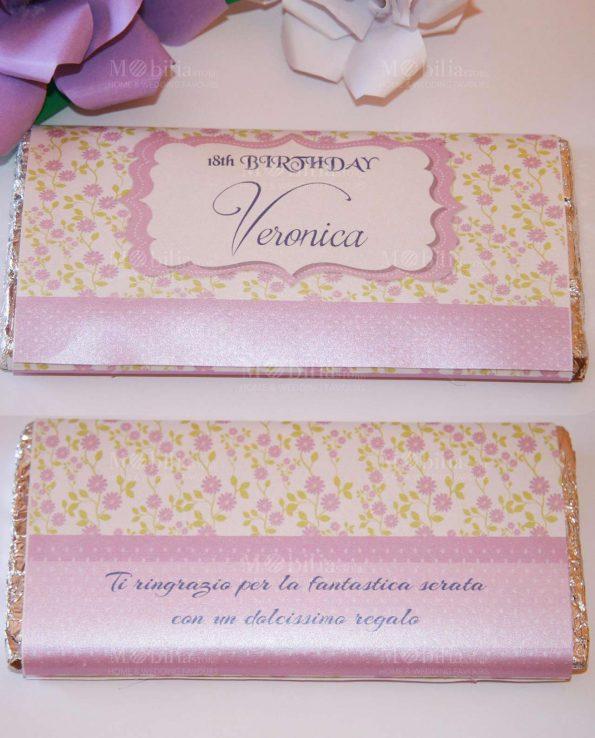 Invito Con Margherite Per Tavoletta Di Cioccolato