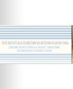 invito per tavoletta di cioccolato battesimo bimbo