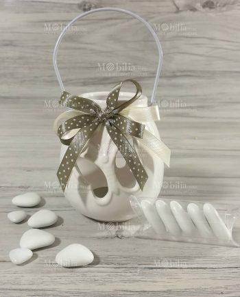 Bomboniere Matrimonio Lanterna Ceramica Farfalla