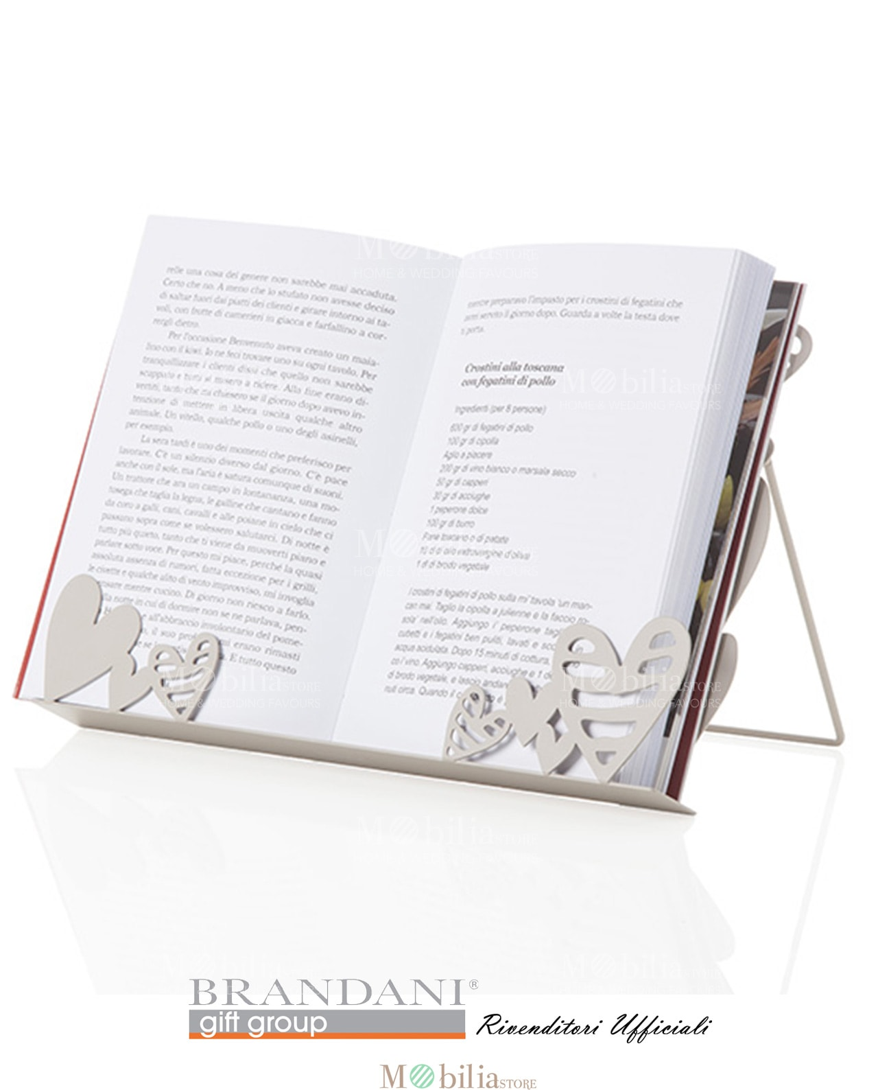 Leggio da tavolo metallo batticuore brandani spedizione - Leggio per libri da tavolo ...