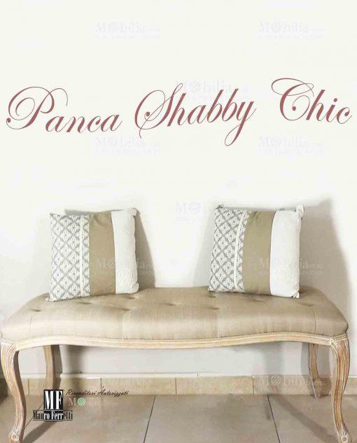 Panca Imbottita Shabby Chic