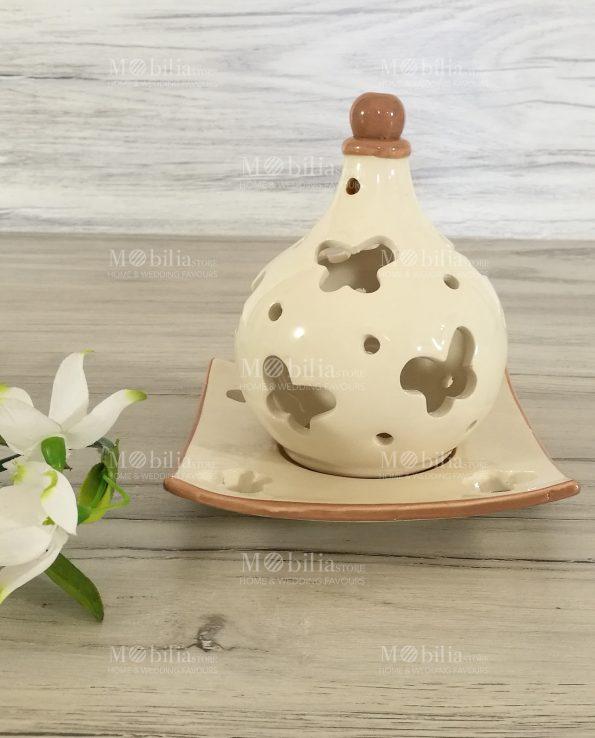 Lanterna Ceramica Portacandela