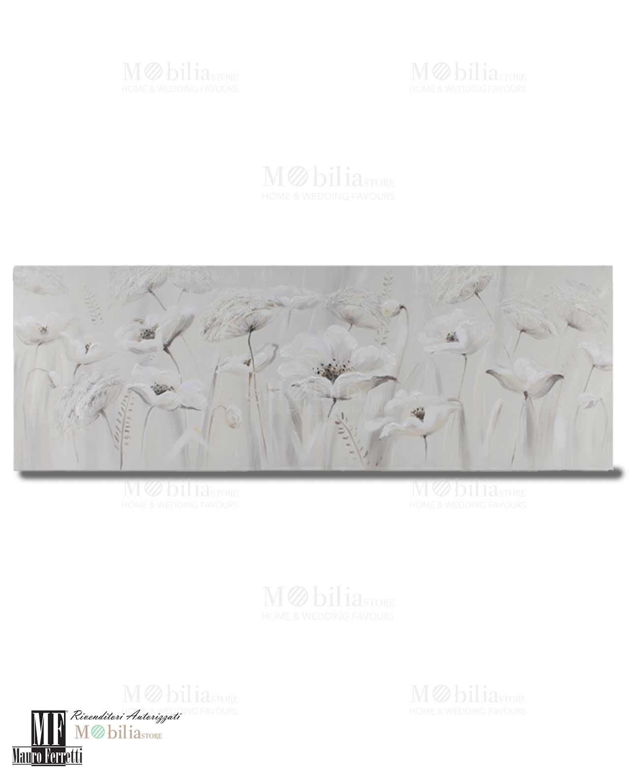 Tela con fiori tortora rettangolare mobilia store home for Mobilia recensioni