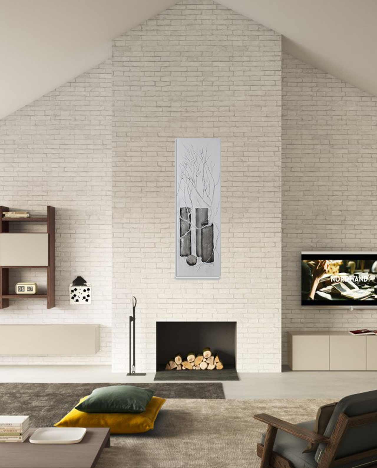 Quadro moderno grigio e argento con vasi - Mobilia Store Home & Favours