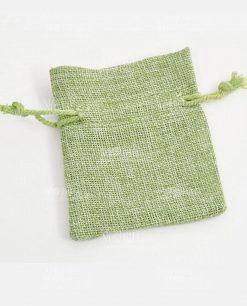 sacchettino verde in juta 10 x 12 min