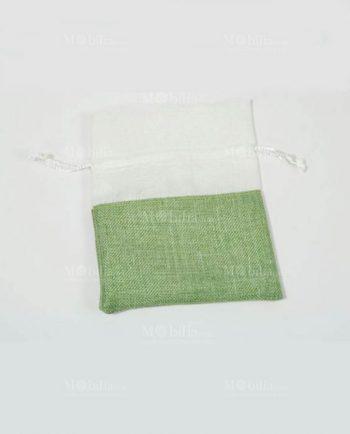 Sacchetti Portaconfetti Fai da te Verdi Juta e Organza