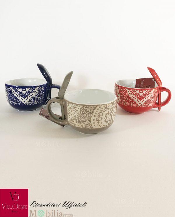Tazze da Colazione Ceramica Colorata Marocco Villa d'Este