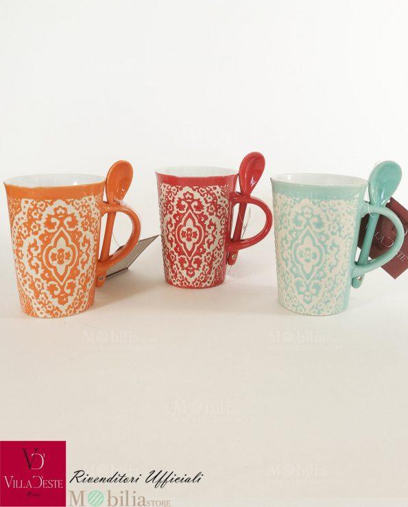 Mug Colorati Ceramica Decorata Marocco Villa d'Este