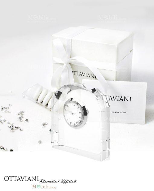 bomboniera orologio da tavolo arco cristallo ottaviani