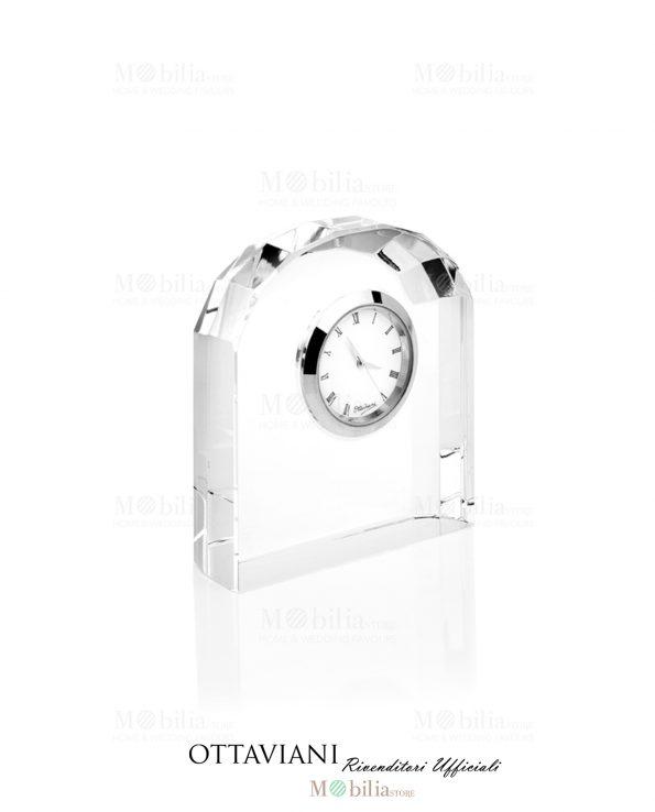 Orologio da tavolo Arco cristallo Ottaviani
