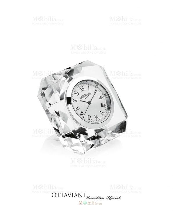 Orologio da tavolo Cristallo Quadrato Ottaviani