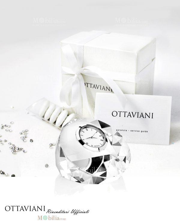 bomboniera orologio tondo cristallo sfaccettato ottaviani