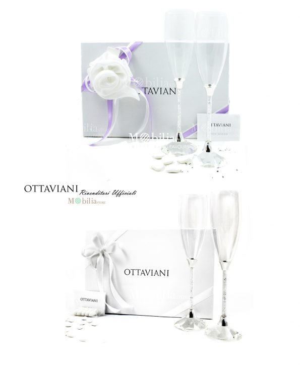 Bomboniere Matrimonio Confezionate Bicchieri Flutes Ottaviani