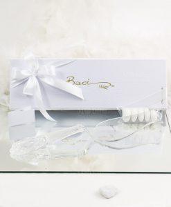 bomboniera confezione basic pala torta trasparente baci milano
