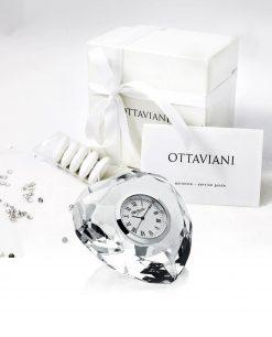 bomboniera orologio cristallo cuore Ottaviani