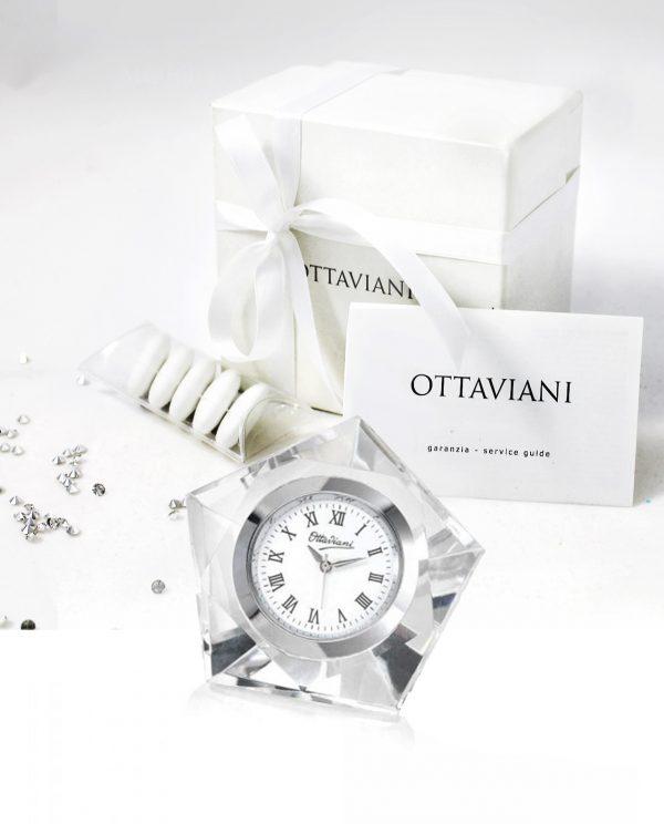 orologio pentagonale cristallo Ottaviani