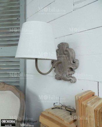 Applique da parete color argento in offerta mobiliastore for Applique da parete legno