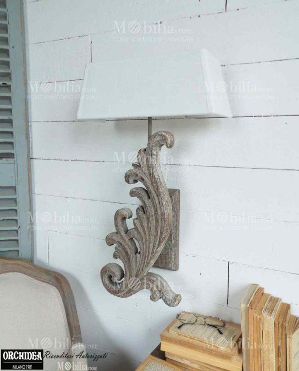 Applique da parete legno con decori in offerta mobiliastore for Applique da parete legno