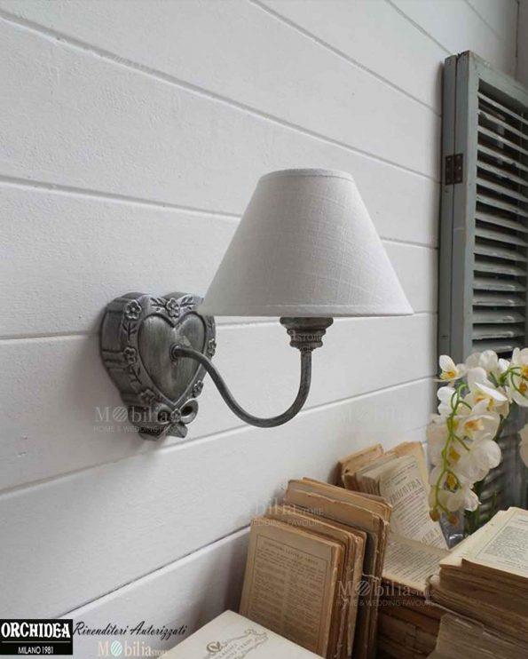 Applique da parete legno decapato cuore in offerta for Applique da parete legno