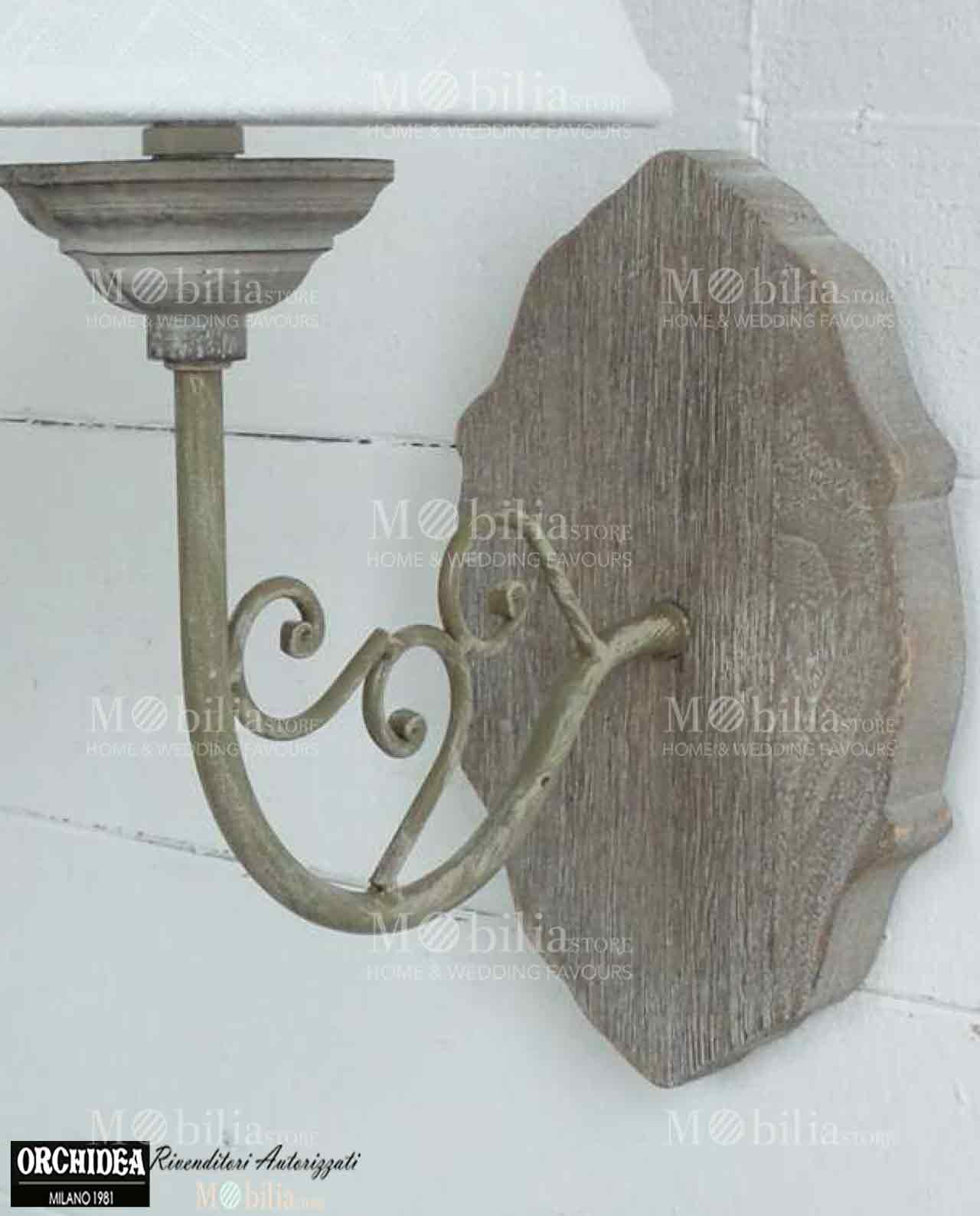 Applique da parete legno stile country in offerta for Applique da parete legno