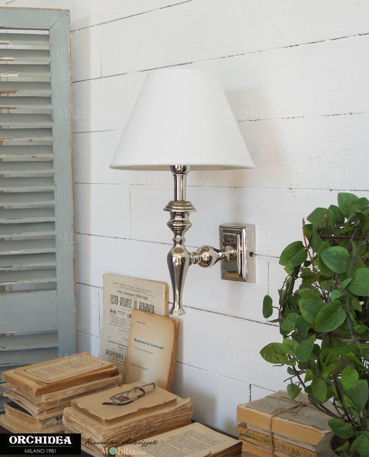 Applique da parete color argento in offerta mobiliastore for Parete argento