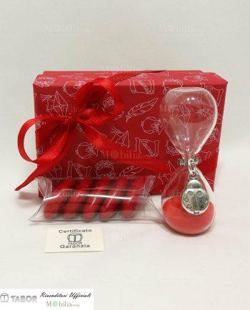 Bomboniere Laurea Clessidre vetro con ciondolo Coccinella