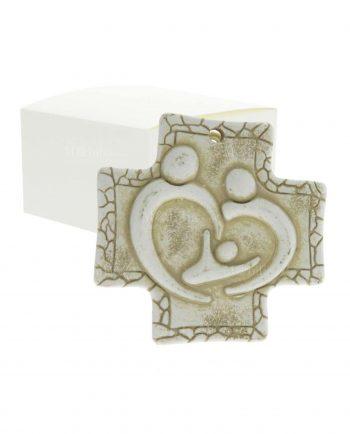 Bomboniere Croce d'appoggio Sacra Famiglia Stilizzata