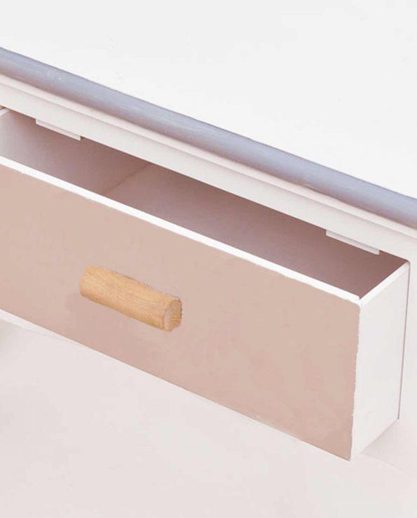 Consolle ingresso legno stile marinaro 2 cassetti