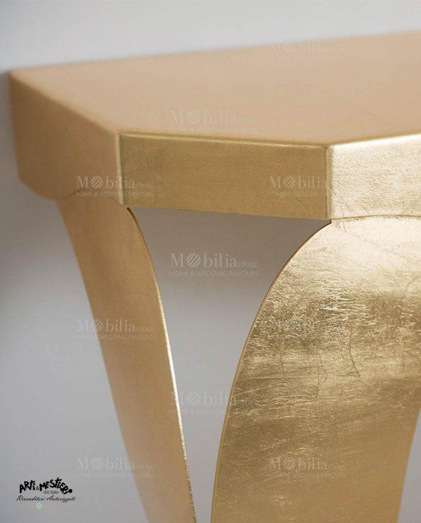 Consolle Moderna Oro e Argento Arti e Mestieri