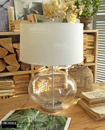 Lampada da Tavolo Moderna Vetro Rotonda