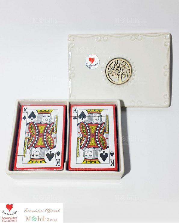 Bomboniere Solidali Matrimonio Scatola con carte Cuorematto