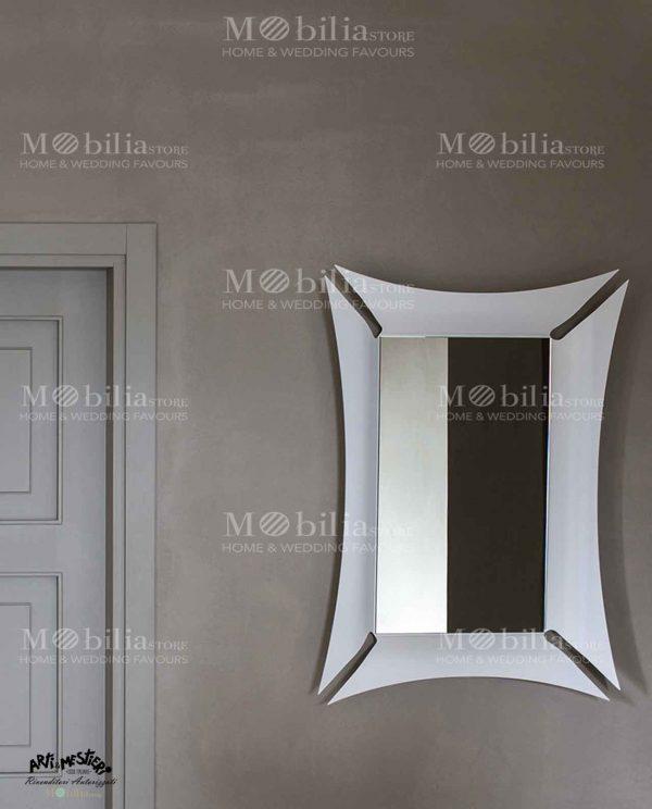 Specchio da parete con cornice Arti e Mestieri
