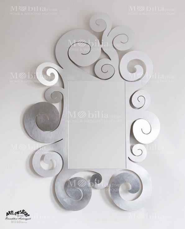 Specchio da parete con cornice arricciata Arti e Mestieri