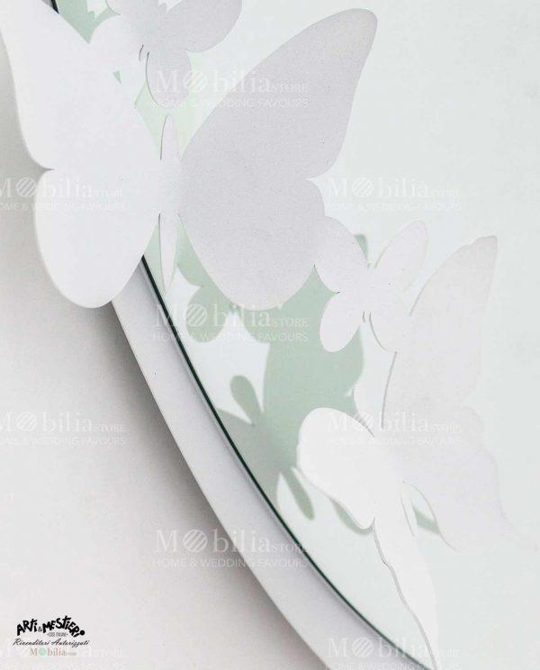 Specchio da parete ovale con farfalle Arti e Mestieri