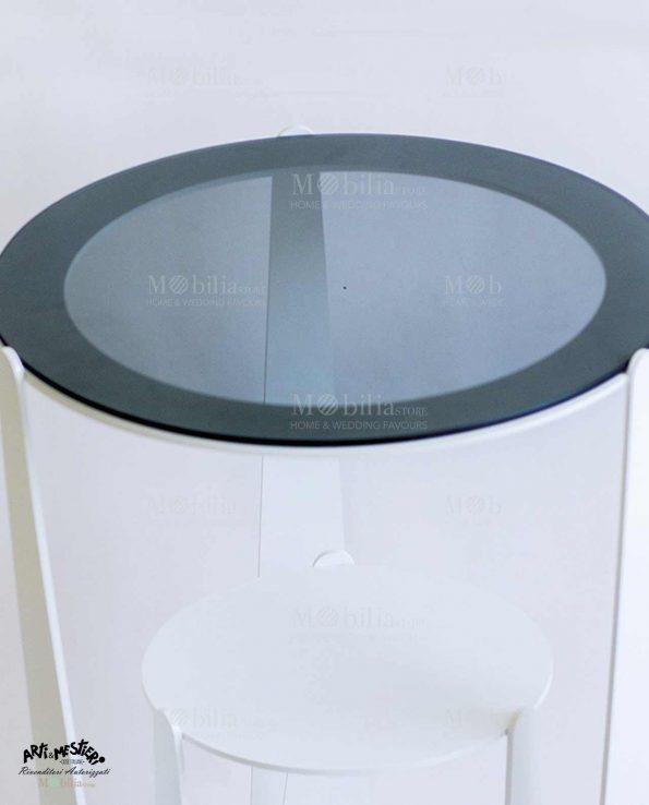 Tavolino Moderno con piano vetro Arti e Mestieri