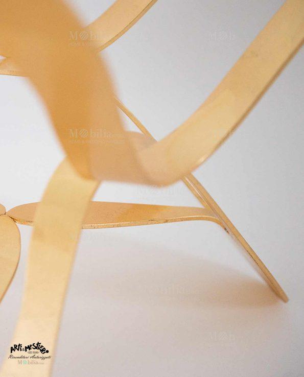 Tavolino Moderno oro e argento Arti e Mestieri