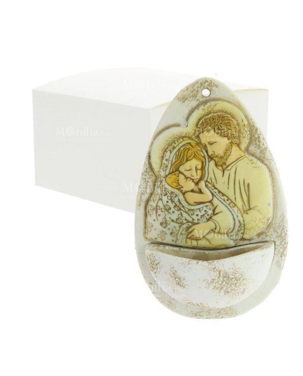 Bomboniere Battesimo Acquasantiera Sacra Famiglia