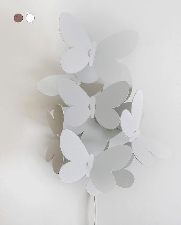 applique da parete con farfalle bianca arti e mestieri