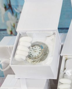 bomboniera orologio da appoggio piccolo cristallo ottaviani