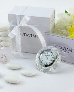 bomboniera orologio piccolo appoggio con numeri romani ottaviani