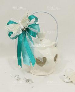 bomboniere matrimonio lanterna ceramica con farfalla