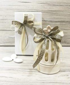 bomboniere matrimonio lantyerna ceramica gabbietta