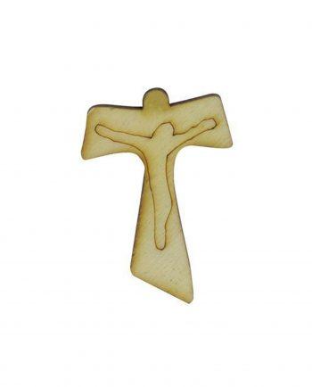 Bomboniere Comunione e Cresima Applicazioni Croce Tau Legno