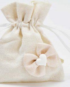 dettaglio sacchettini panna