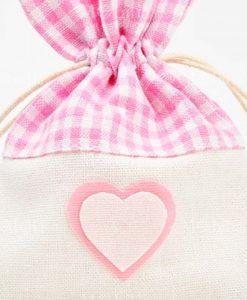 dettaglio sacchettino con cuore