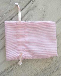 dettaglio sacchettino rosa fai da te